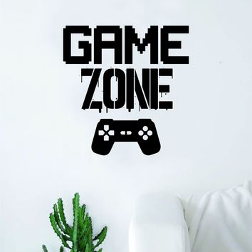 Game Zone V2 Wall Decal Quote Home Room Decor Decoration Art Vinyl Sticker Funny Gamer Gaming Nerd Geek Teen Video Kids