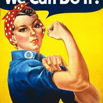 "Rosie the Riveter We Can Do It 30"" Silk Poster"