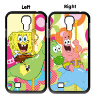 spongebob squarepants and patrick star wallpaper Y0008 Couple Samsung Galaxy S3 S4 S5 (Mini) S6 S6 Edge,Note 2 3 4, HTC One S X M7 M8 M9 Couple Cases