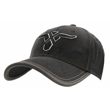 6b4bce39f34 Wrangler 20X® Distressed Black with 20X Steer Logo Embroidery Bound A-Flex  Fit Cap