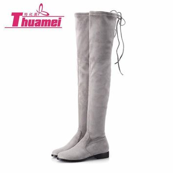 Slim Boots Sexy over the knee high Suede women snow boots women's fashion winter thigh