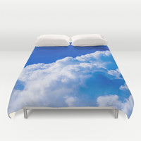 White clouds in the blue sky Duvet Cover by Digital2real
