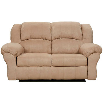 Flash Furniture Exceptional Designs Sensations Camel Microfiber Reclining Loveseat