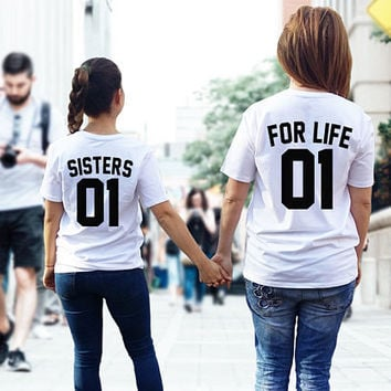 best friends shirts, SISTERS FOR LIFE shirts, sisters shirts, sister 01, bff shirts, bff tshirts, besties shirts, best friends tees