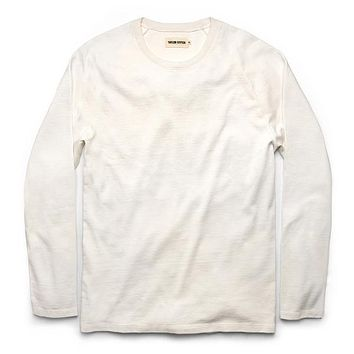 Taylor Stitch - The Heavy Bag Waffle in Natural Long-Sleeve