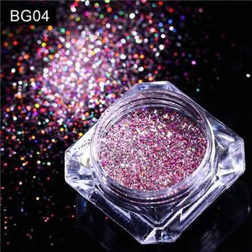 1 Box Holographic Nail Glitter Sequins Holo Laser Shine Pigment Powder Manicure Nail Art Decorations