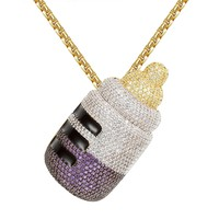 Baby Sipper with Lean Purple Cup Custom Pendant