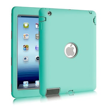 Armor Shockproof Case For iPad 2 iPad 3 iPad 4 Silicone Heavy Duty Hard Case Cover Full Body Protective For Ipad 4 Case