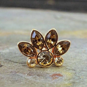 16G Rose Gold Crystal Cartilage Earring