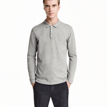 H&M Long-sleeved Polo Shirt $12.99