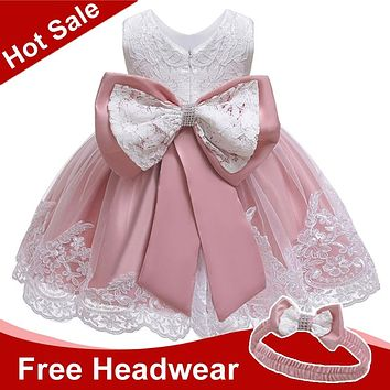 Summer Baby Girls Dress Newborn Baby Lace Princess Dresses For Baby 2 1st Year Birthday Dress Easter Costume Infant Party Dress
