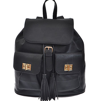 Classic Bucket Tassel Backpack - FINAL SALE