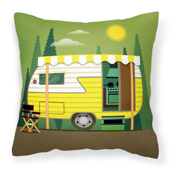 Greatest Adventure Retro Camper Fabric Decorative Pillow BB5478PW1414