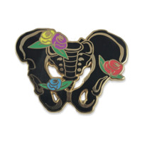 Anatomy Bloom Pelvis Enamel Pin