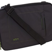 STM Bags dp-2141-1 Jacket Small Sleeve, Fits Most 13-Inch Screens- Black/Green | www.deviazon.com