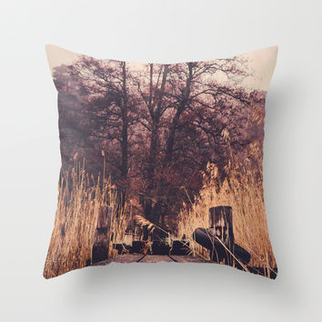 Reach for the sky Throw Pillow by HappyMelvin
