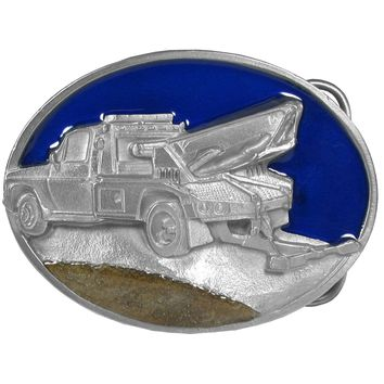 Sports Accessories - Tow Truck Enameled Belt Buckle