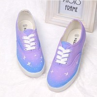 Fashion Blue star canvas shoes