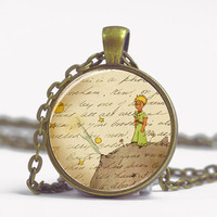 Pendant with Chain - Little Prince on a planet