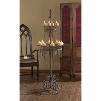Park Avenue Collection Malbark Castle Gothic Floor Candelabra