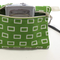 Padded Gadget White Squares Camera Bag