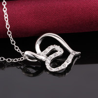 Artistry Heart Silver Necklace
