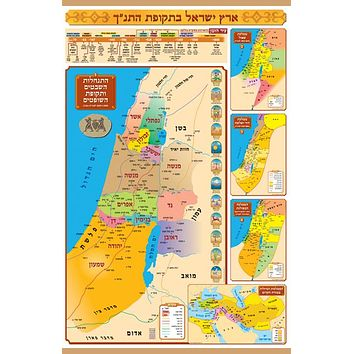 Ancient Biblical Empire Wall Maps Printed on Cloth