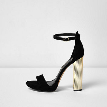 Black platform contrast heel sandals - sandals - shoes / boots - women
