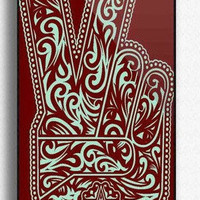 Personalized OBEY Peace SIGN Custom for Phone 5  Print iphone hard case for iphone 5-plastic Iphone cover