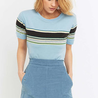 Urban Outfitters Blue Striped T-shirt - Urban Outfitters