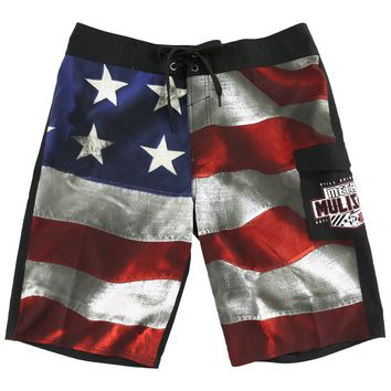 Metal Mulisha Men's Old Glory Boardshorts