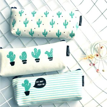 Cute Cactus Pencil Case