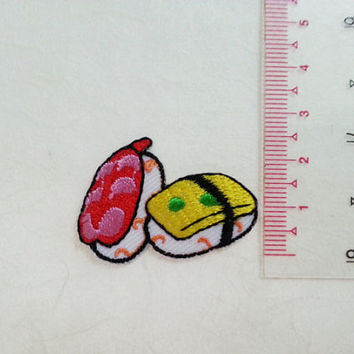 Sushi Iron on Patch - Sushi Applique Embroidered Iron on Patch