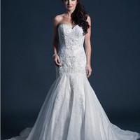 KCW1577 Lace Trumpet Strapless Wedding Dress by Kari Chang Eternal