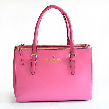 KATE SPADE Women Leather Luggage Travel Bag Tote Handbag B-YJBD-2H-1