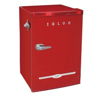 IGLOO 3.2 cu. ft. Mini Refrigerator in Red-FR376-RED - The Home Depot