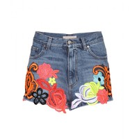 christopher kane - embroidered denim shorts