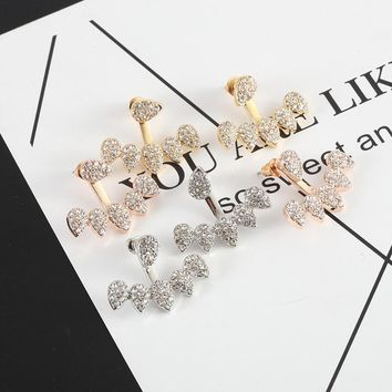 New personality design more water drops full drill stud ear stud earrings