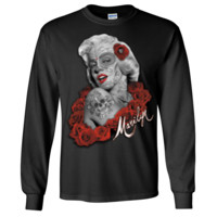 Dia De Los Muertos Marilyn Monroe Long Sleeve Shirt