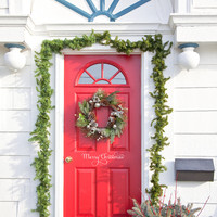 Merry Christmas Front Door Decal Vinyl Lettering Wall Words Wall Art Merry Christmas Front Door Decal