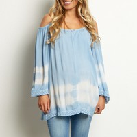 Light-Blue-Tie-Dye-Cold-Shoulder-Top