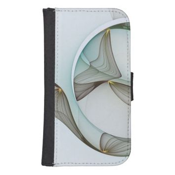 Fractal Abstract Elegance Galaxy S4 Wallet Case