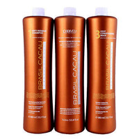 BRAZILIAN KERATIN  CADIVEU BRASIL CACAU  HAIR SMOOTHING  3 X 250ml (8.4oz) FRACTION SALE KIT.