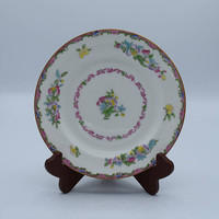 Minton China Plate Vintage 1910s Pink Floral Lunch Plate Bread and Butter Appetizer Plate Antique Collectible English China