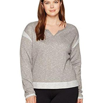SHAPE activewear Womens Plus Size Surfer Terry Sweatshirt