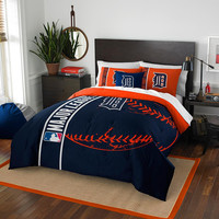 Detroit Tigers MLB Full Comforter Set (Soft & Cozy) (76 x 86)