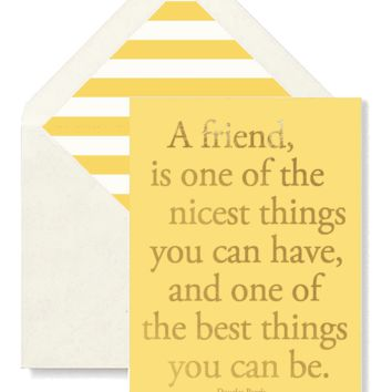 A Friend Is One Of The Nicest Greeting Card, Single Folded Card or Boxed Set of 8
