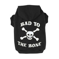 Pet Sweatshirt Clothes Dog Clothes Skull Pattern Cool Thermal Sweatshirt Hoodie For Spring Cute Coat Puppy