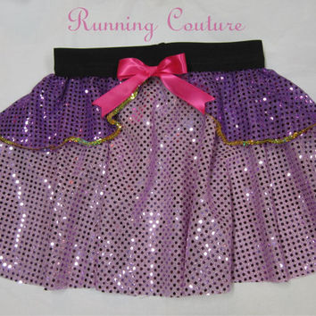 Rapunzel from Tangle  inspired Sparkle Running Misses Round skirt