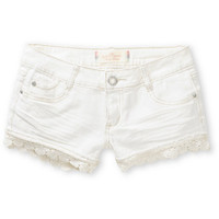 Almost Famous Olivia Lace Hem Shorts